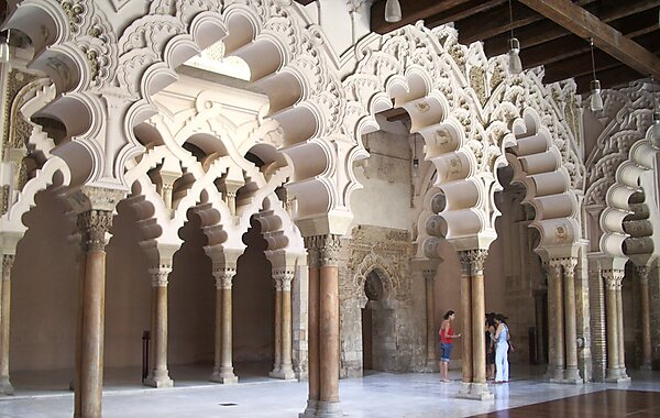 Aljafería Palace in Zaragoza, Spain