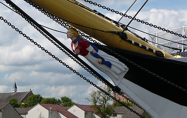The Tall Ship at Glasgow Harbour Glenlee figurehead
