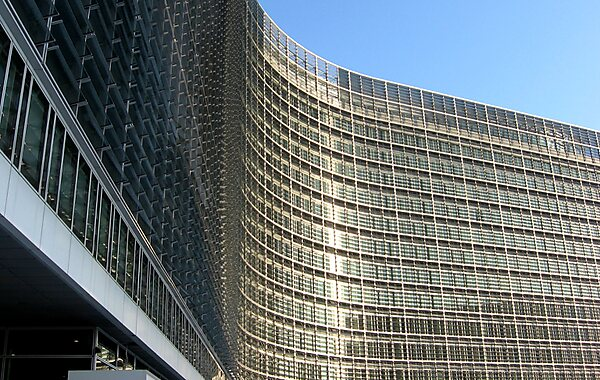 Berlaymont Building in Brussels, Belgium