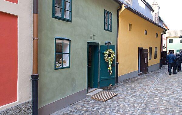 Golden Lane in Prague, Czech Republic