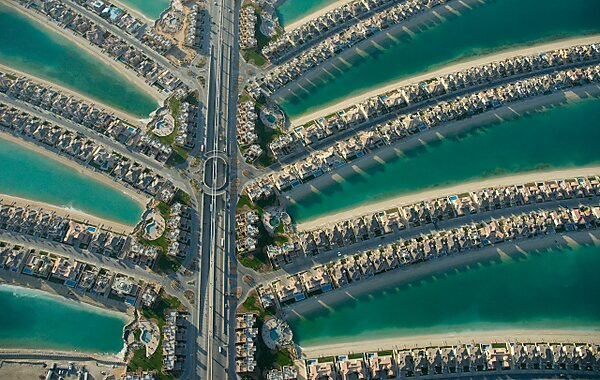 Palm Jumeirah in Dubai, United Arab Emirates