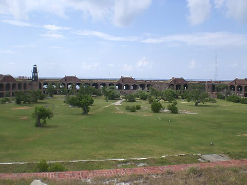 Jefferson (NC) United States  City new picture : Fort Jefferson courtyard in the Dry Tortugas National park