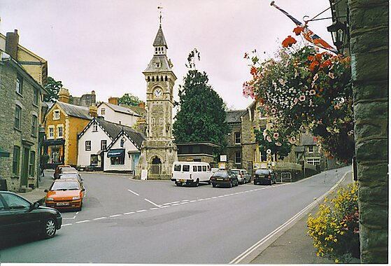 Hay-on-Wye United Kingdom  City pictures : Clock Tower, Hay on Wye. An unusually quiet moment in the middle of ...