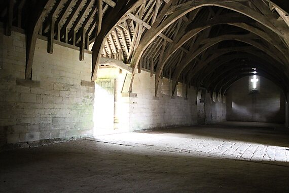 Bradford on Avon United Kingdom  City new picture : Interior view of the medieval Tithe Barn in Bradford on Avon