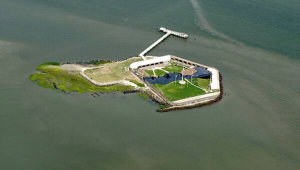 Sumter (SC) United States  City new picture : Aerial view of Fort Sumter National Monument.