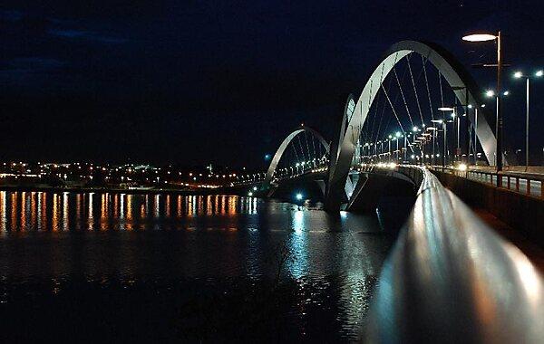 Juscelino Kubitschek Bridge in Brasilia, Brazil