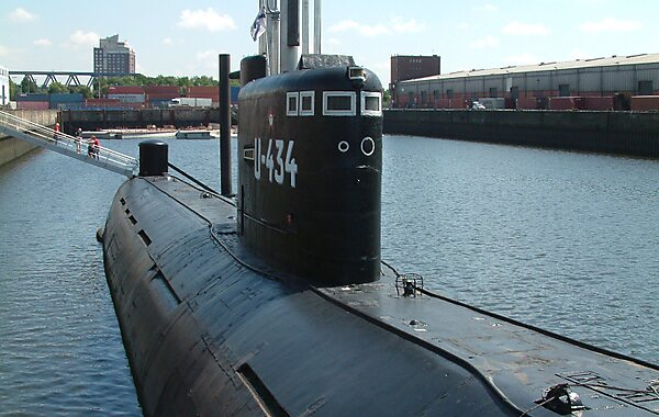 U-Boat Museum in Hamburg, Germany