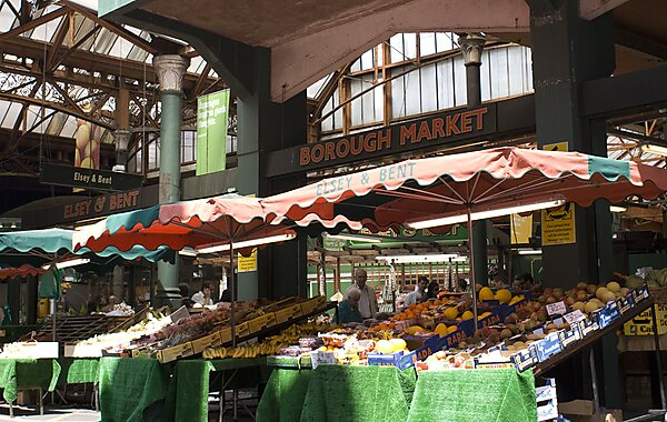 Borough Market in London, United Kingdom