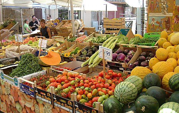 Ballaro Market in Palermo, Italy
