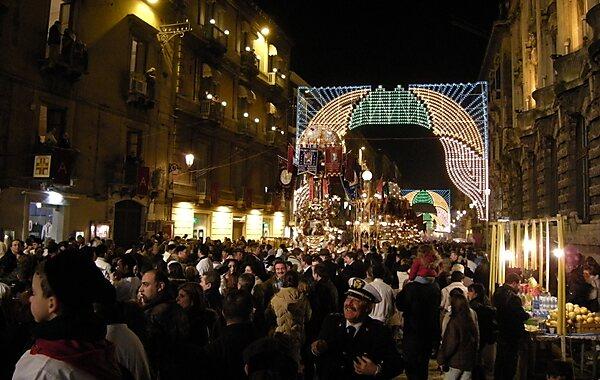 Via Etnea Catania in Catania, Italy