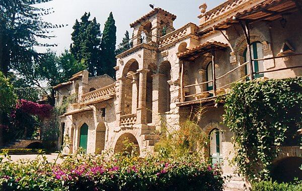 Taormina Public Gardens in Catania, Italy
