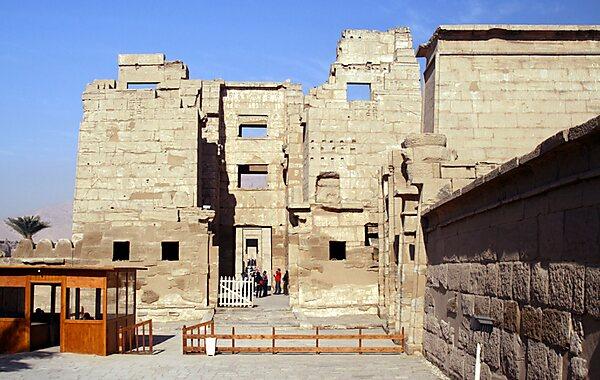 Medinet Habu in Luxor, Egypt