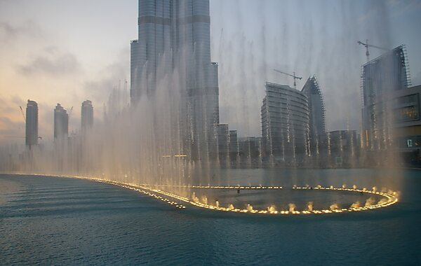 The Dubai Fountain in Dubai, United Arab Emirates